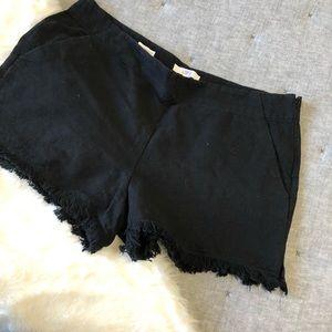 Loft the Riviera black fringe shorts sz.14